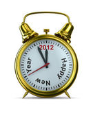 2012 year on alarm clock. Isolated 3D image — Stock Photo