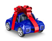 Car in gift packing. Isolated 3D image — Stock Photo