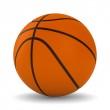 Basketball ball on white background. Isolated 3D image — Stock Photo #7392253