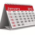 2012 year calendar. January. Isolated 3D image — Stock Photo #7500987