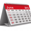 2012 year calendar. June. Isolated 3D image — Stock Photo #7501016