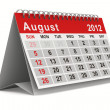 2012 year calendar. August. Isolated 3D image — Stock Photo