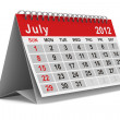2012 year calendar. July. Isolated 3D image — Stock Photo #7501038