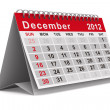 2012 year calendar. December. Isolated 3D image — Stock Photo #7501072