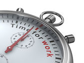 Time for work. Stopwatch on white background. Isolated 3D image — Stock Photo