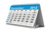 2012 year calendar. December. Isolated 3D image — Stock Photo