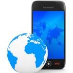 Phone on white background. Isolated 3D image — Stock Photo #7808010
