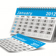 Royalty-Free Stock Photo: 2012 year calendar. January. Isolated 3D image