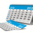 2012 year calendar. July. Isolated 3D image — Stock Photo #7808019