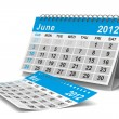 2012 year calendar. June. Isolated 3D image — Stock Photo #7808021