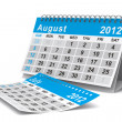 2012 year calendar. August. Isolated 3D image - Stock Photo