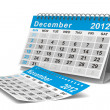 2012 year calendar. December. Isolated 3D image — Stock Photo #7808031