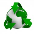 Recycling arrows and globe. Isolated 3d image — Stock Photo #7921500