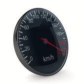 Speedometer on white background. 3D image — Stock Photo