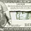 Dollar vs. Yuan — Stock Photo