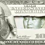 Dollar vs. Yuan — Stock Photo