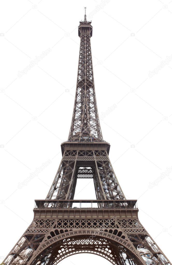 埃菲尔铁塔孤立在白色背景 — 照片作者 zoooom