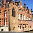 Medieval houses in Bruges — Stockfoto