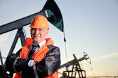 Engineer in an Oil field — Photo