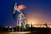 Oil Rig at night. — Stock Photo