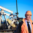 Royalty-Free Stock Photo: Engineer in an oil field