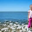 Child at the sea — Stock Photo