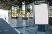 Modern empty billboard — Stock Photo