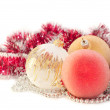 Christmas Bauble on white background — Stock fotografie