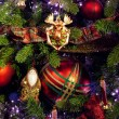 Decoration on the christmas tree — Stock Photo
