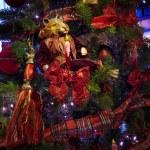 Decoration on the christmas tree — Stock Photo