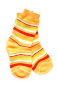 Pair of child's striped socks — 图库照片