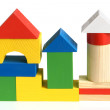House made from children's wooden building blocks — Stock Photo #6815247