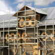Building of russian wooden house — Stock Photo