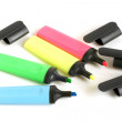 Colored highlighters - Stock Photo
