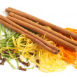 The composition of citron, cinnamon and cloves — Stock Photo