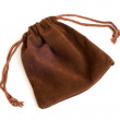 Brown pouch — Stock Photo