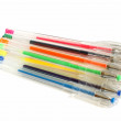Set of colored gel pens — Stock Photo