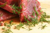 Fresh raw beef meat — Stock Photo