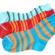 Child's striped socks — Zdjęcie stockowe #7416231