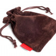 Brown pouch - Stock Photo