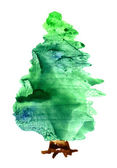 Watercolor Christmas tree — Stockfoto