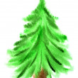 Watercolor Christmas tree - Photo
