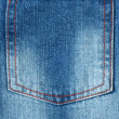 Close-up of a hip pocket - Stock Photo