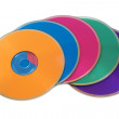 Many colorful multimedia disks — Stock Photo #7858628