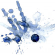 Abstract hand drawn watercolor background — Stock Photo