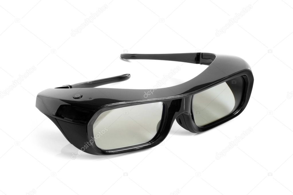 3D glasses on a white background — Stock Photo #7954853