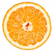 Closeup of orange, isolated on white. — 图库照片