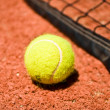 Tennis ball on the court — Stock Photo #7678593