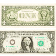 Money close up, 1 american dollar — Stock Photo