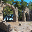 Ancient Aqueduct in Phaselis, Turkey — Stock Photo